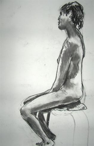 Woman posing. Amsterdam, Netherlands, 2007